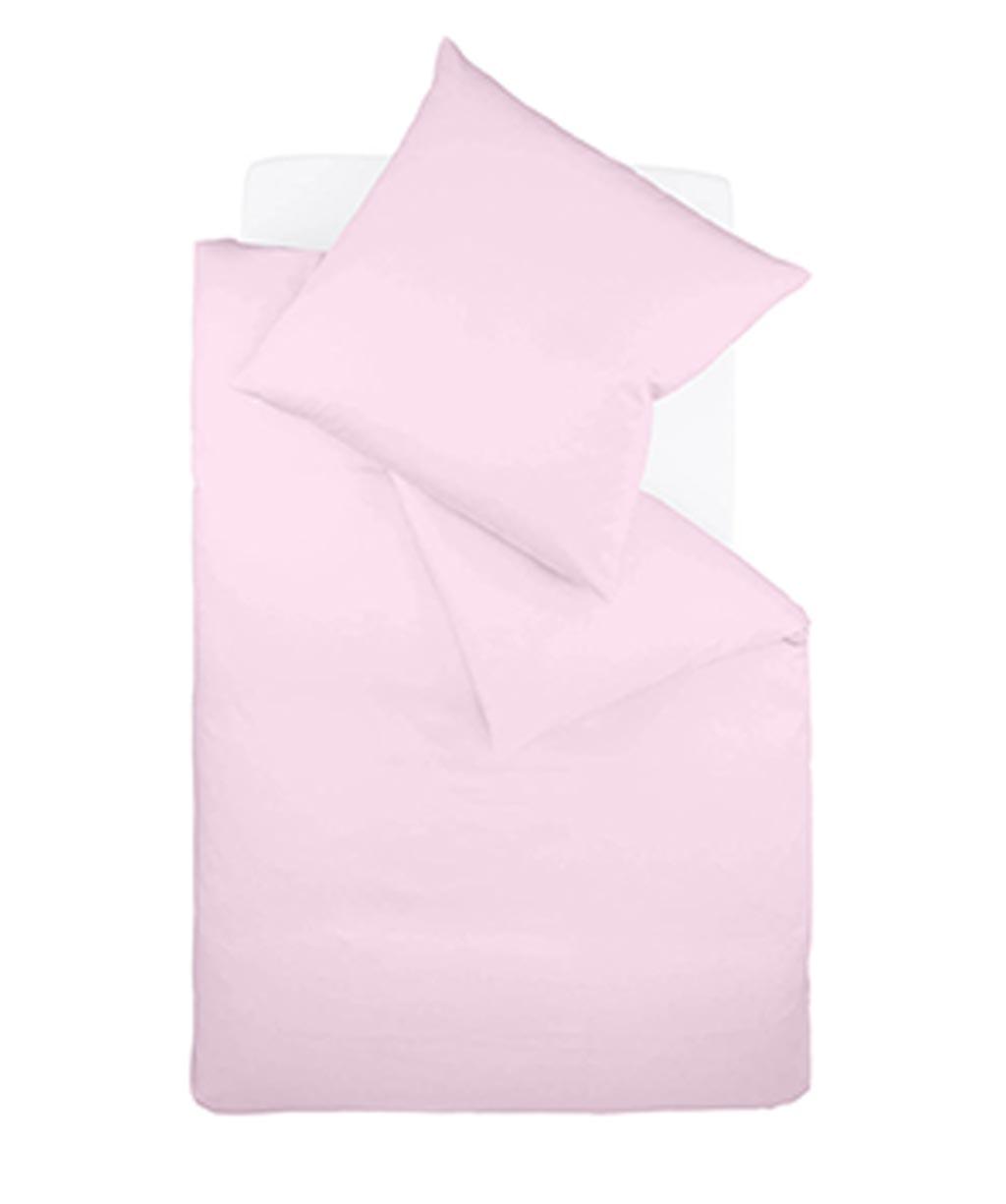 Bügelfreie Jersey-Bettwäsche in Beige