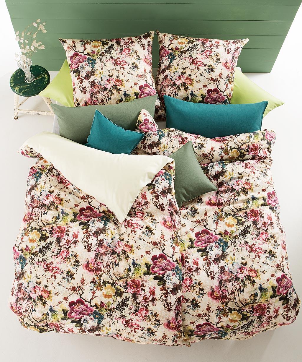 Romantische Blumenbettwäsche mit Wende - hochwertiger Digitaldruck
