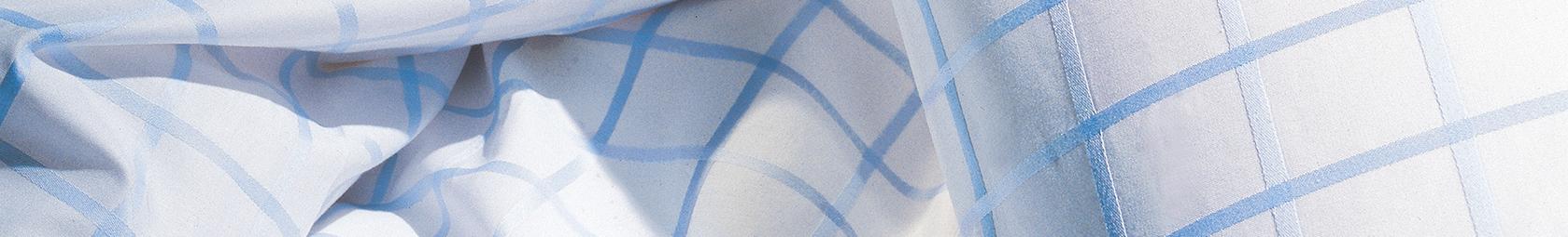 Blau karierte fleuresse Marken Bettwäsche