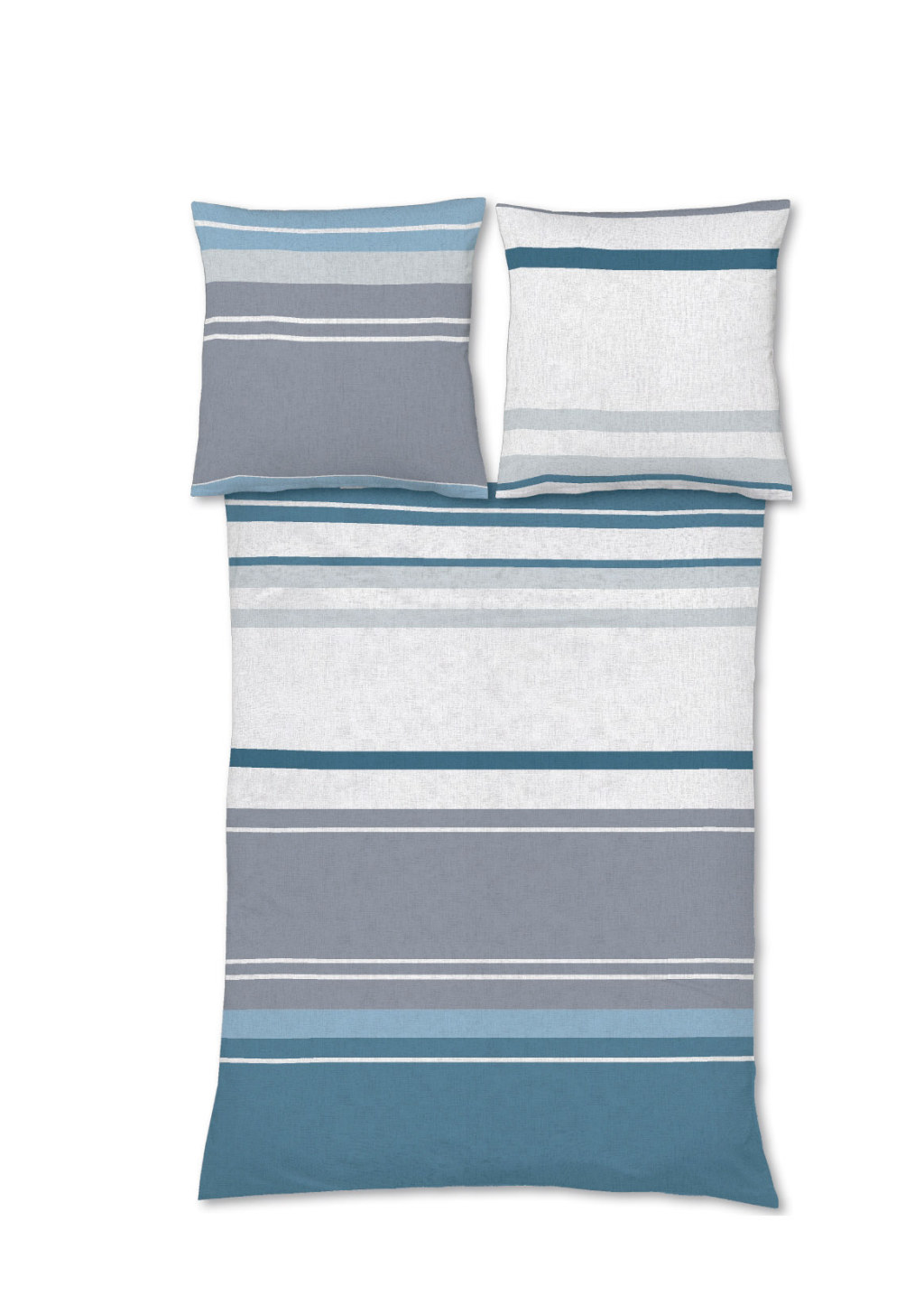 Blaue Biber Bettwäsche mit Streifen für den Winter