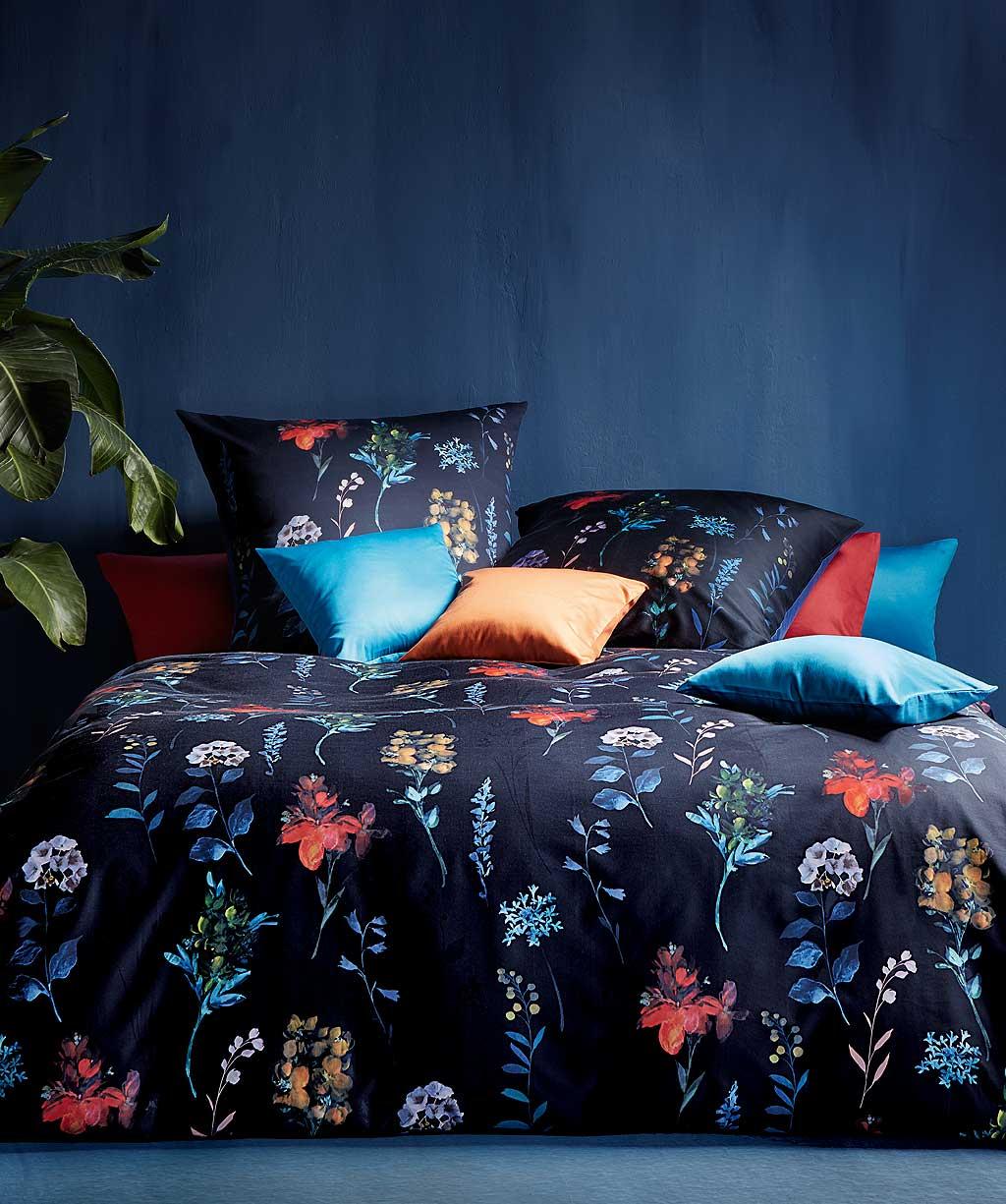 Bügelfreie Blumenbettwäsche aus hochwertigem Interlock Jersey - Digitaldruck