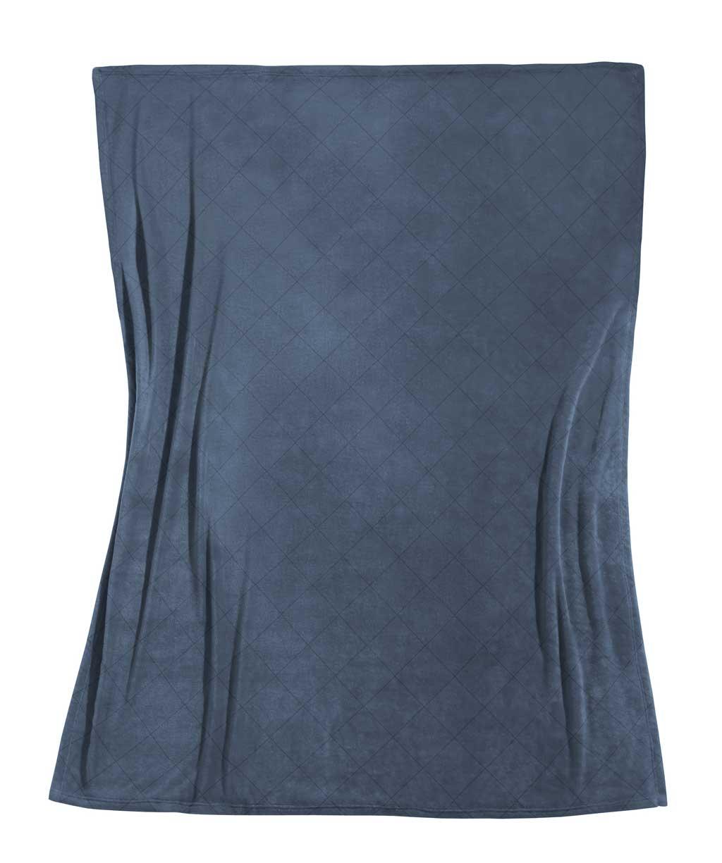 Herrlich weiche dunkelgraue Decke aus Edel-Flanell mit Steppung