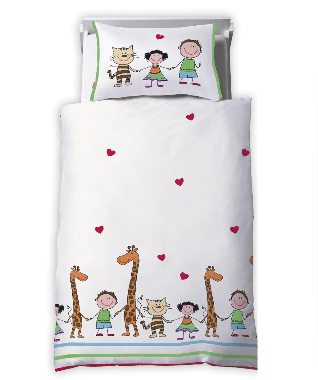 Süße Kinderbettwäsche für Mädchen und Buben mit Tieren
