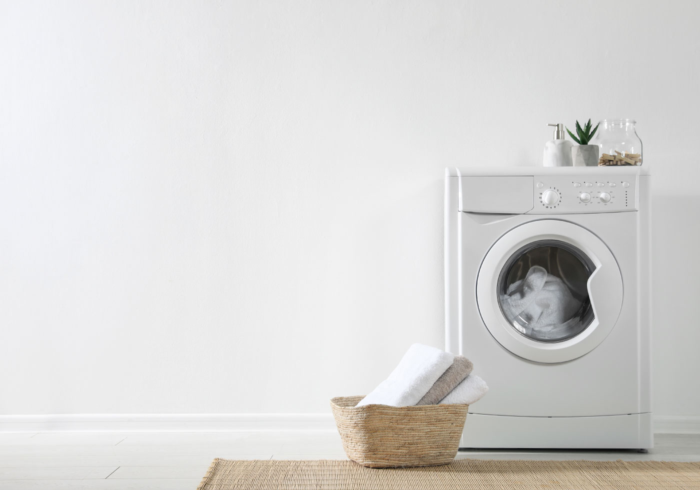 Marken Bettwäsche in der Waschmaschine waschen