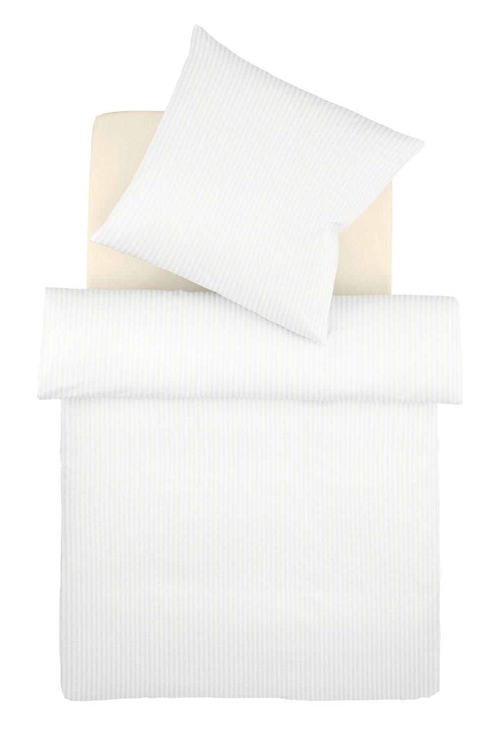SCHWARZer Kissenbezug mit Streifen bügelfrei