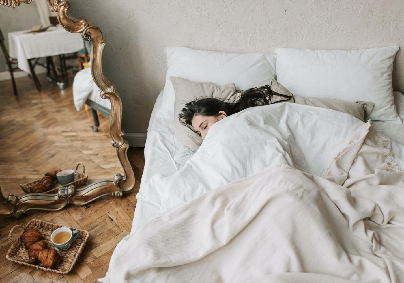 Schlafen in  stilvoller Bettwäsche zum dahinträumen
