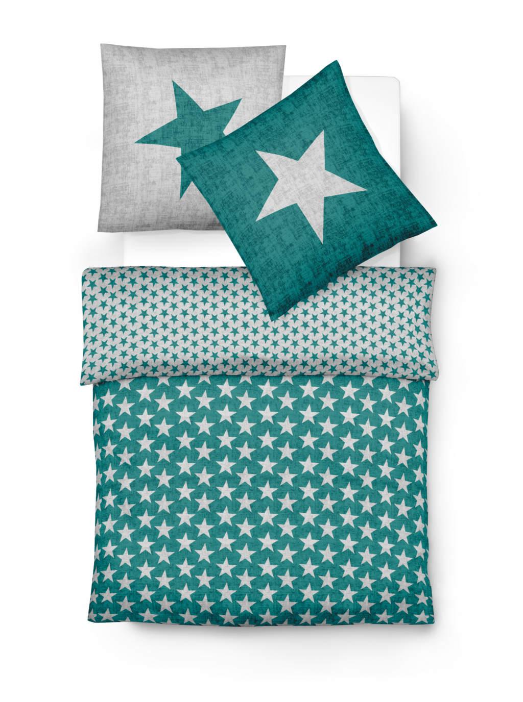 Winter Wendebettwäsche aus weichem Biber mit Sterne