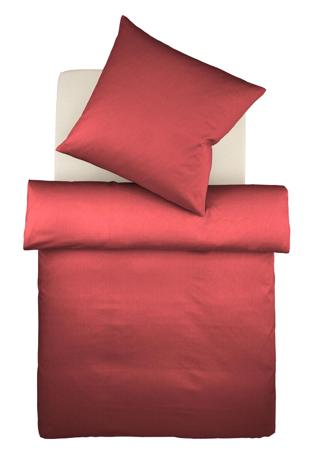 SCHWARZe bügelfreie Jersey-Bettwäsche gestreift