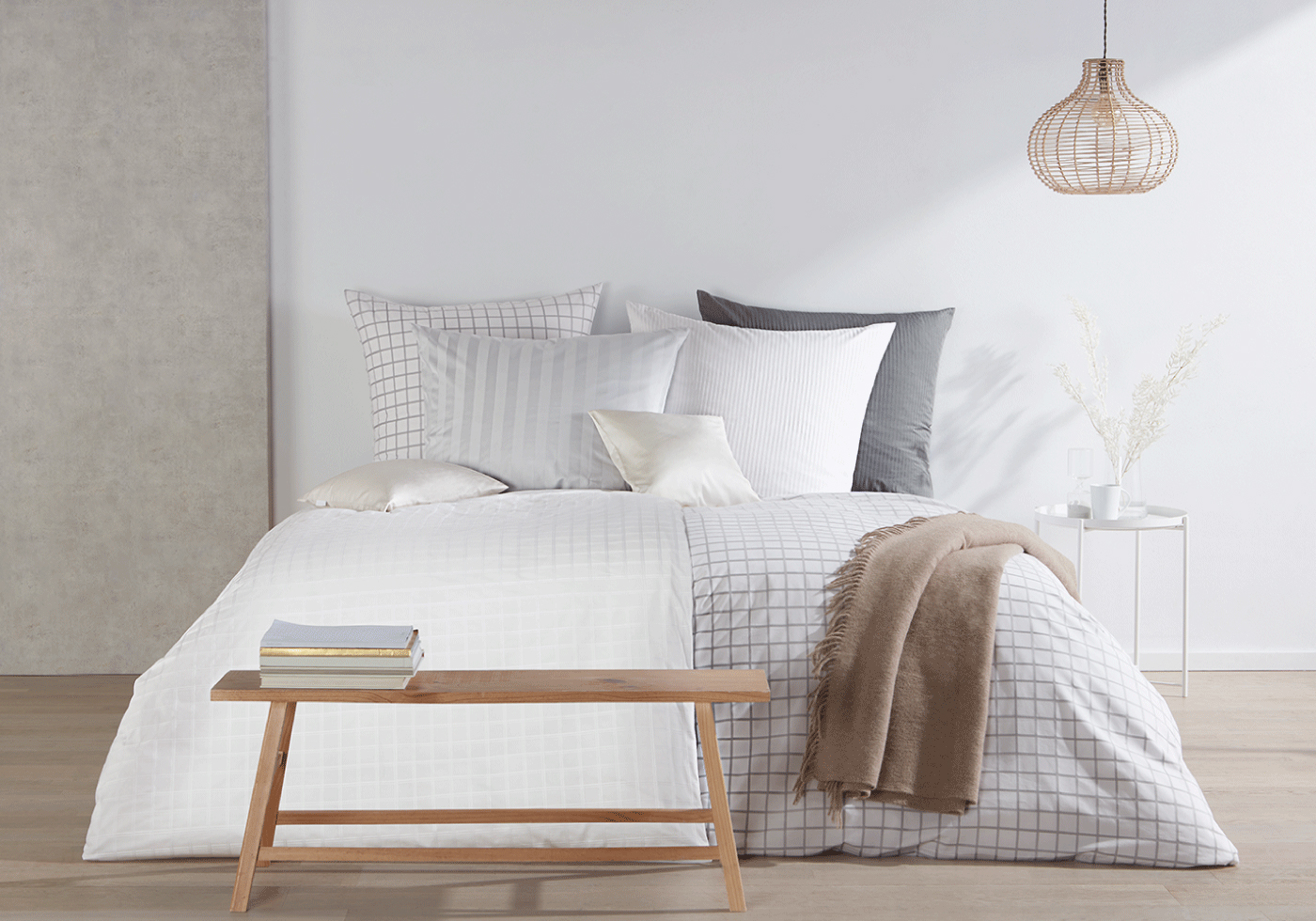 traumhafte Marken Bettwäsche mit edlen Karos