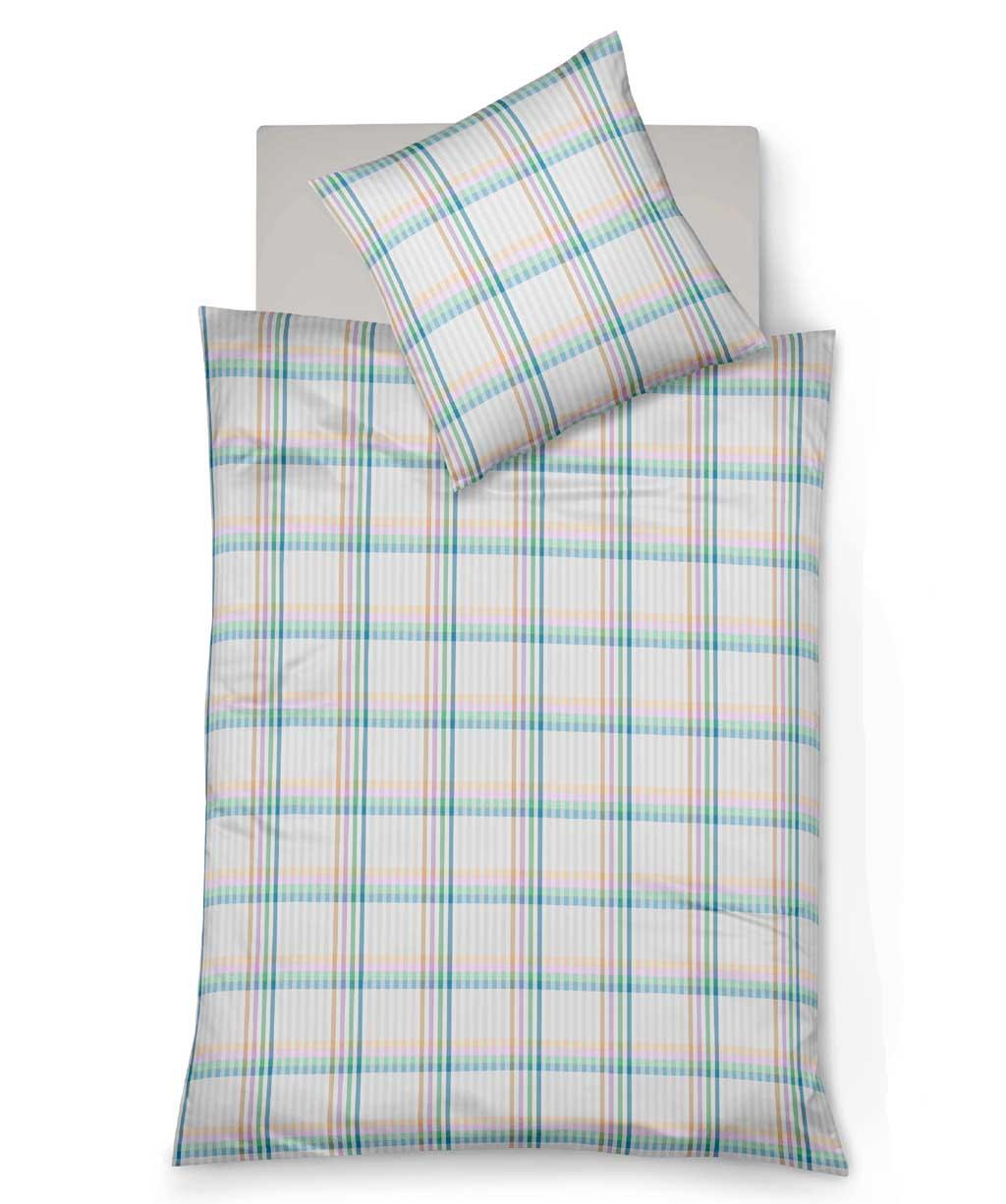 Hochwertige Mako Batist Bettwäsche mit sommerlich bunten Karos