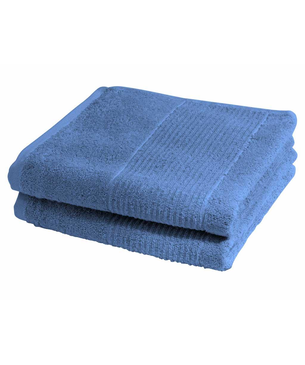 Blaues Handtuch, Badetuch, Duschtuch aus Baumwolle mit Streifen