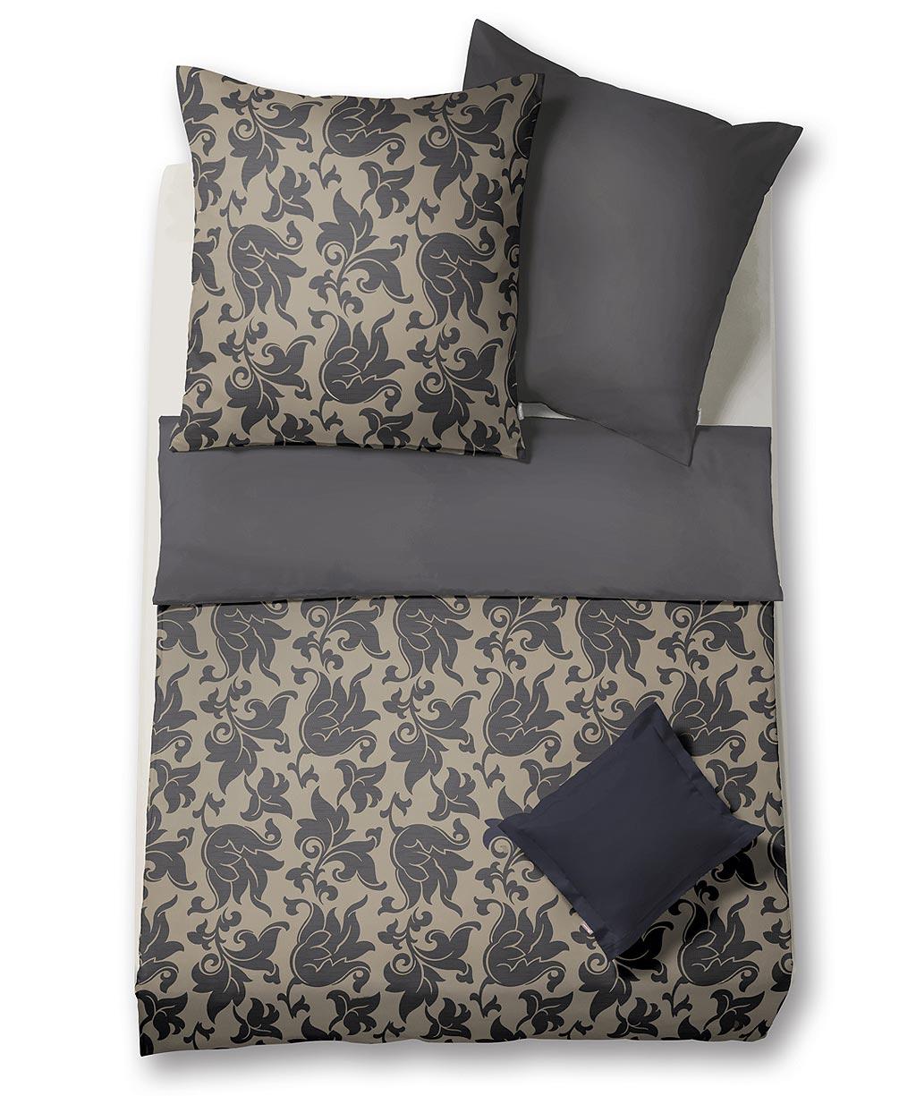 Buntgewebte Brokat Damast Kissenhülle mit floralem Design
